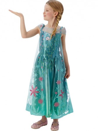 Disney Frozen Fever Elsa Kjole