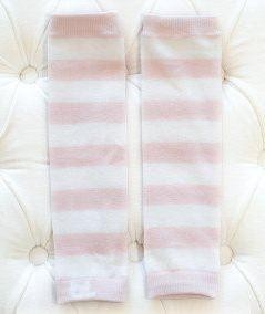 Leggvarmer Baby Leggings - Pale Pink White