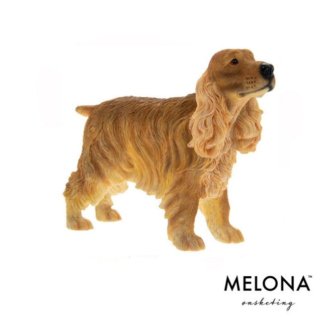 Brun Cocker Spaniel Figur Resin - melona.no